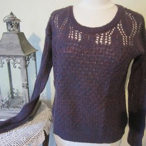 Charlotte Russe L Variegated purple sweater